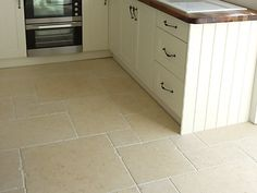 Limestone flooring - love.