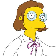 The Simpsons│ Los Simpson - - - - - - Miss Hoover, The Simpsons Game, Simpsons Characters, 2nd Grade Teacher, Elementary Schools, Pin Up, Drawings, Poster Ideas, Board