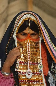 Beduin woman in traditional clothing, Sinai, Egypt