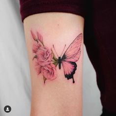 Image about cute in Tattoos by Victoriaa ♡️ on We Heart It Pretty Tattoos, Love Tattoos, Unique Tattoos, Beautiful Tattoos, Body Art Tattoos, Tatoos, Butterfly Tattoos For Women, Rose Tattoos For Women, Butterfly Tattoo Designs