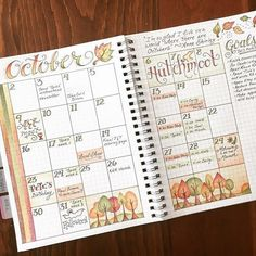 32 Fabulous October Bullet Journal Themes {Halloween, Fall and Pumpkins Galore!} 32 Fabulous October Bullet Journal Themes {Halloween, Fall and Pumpkins Galore! Bullet Journal Monthly Spread, Bullet Journal Themes, Bullet Journal Inspo, Bullet Journal Layout, My Journal, Journal Pages, Calendar Journal, Calendar Layout, Bullet Journal November Layout
