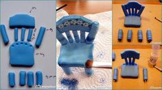 How to make a gum paste chair, this tutorial is not in English ,but step-by- step clear images; make it easy ... http://www.deleukstetaarten.nl/forum/viewtopic.php?id=174484