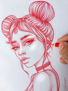 New illustrations, sketches and original art work by Rik Lee — Rik Lee Neue Illustrationen, Skizzen Girl Drawing Sketches, Illustration Art Drawing, Cool Art Drawings, Pencil Art Drawings, Easy Drawings, Woman Drawing, Art Illustrations, Drawing Art, Rik Lee