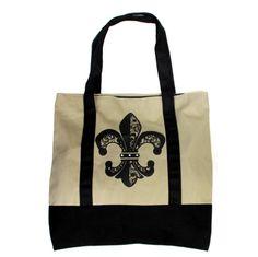 Canvas Bag Fleur De Lis