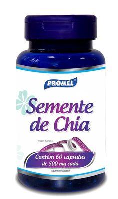 A Semente de Chia é produzida e selecionada com alta qualidade através da primeira e única prensagem a frio, conservando todas as propriedades nutricionais. Também e fonte de vitamina B, cálcio, fósforo, zinco, cobre, magnésio, potássio e proteína https://comprarprodutosnaturais.wordpress.com/2016/01/29/comprar-semente-de-chia-60-capsulas-500mg-promel/