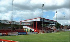 Moss Lane, home of Altrincham FC