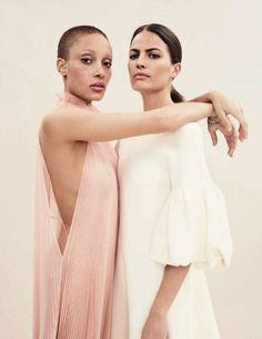EDITORIAL+COVER: Cameron Russell & Adwoa Aboah in Vogue Spain April 2017 by Emma Summerton — The Power Of Fashion — Photography: Emma Summerton,  Model: Cameron Russell & Adwoa Aboah,  Styling: Patti Wilson,  Hair: Luke Chamberlain,  Make-Up: Matthias Van Hooff.