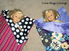 American Girl Doll Sleeping Bag...will be making this for Lexi and Dassa for Christmas for their American Girl Dolls.