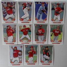2014 Bowman Draft Cincinnati Reds Team Set 11 Baseball Cards #BowmanDraft #CincinnatiReds