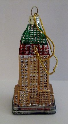 """Christmas Ornament Empire State Building NYC Xmas in New York 3 """" tall"""