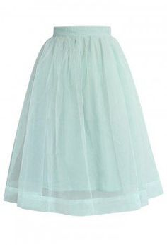 Mint Organza Midi Skirt - CHICWISH SKIRT COLLECTION - Skirt - Bottoms - Retro, Indie and Unique Fashion