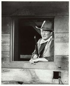 THE SONS OF KATIE ELDER (1965) - John Wayne as 'John Elder' who returns with his brothers to re-claim the family ranch - Produced by Hal Wallis - Directed by Henry Hathaway - Paramount Pictures - Publicity Still.