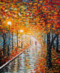Beauty of Earth - original palette knife painting!