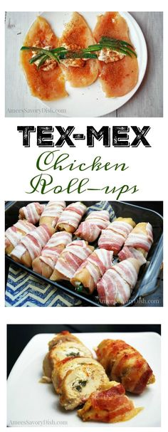 These moist chicken roll-ups are spicy and delicious! Tex-Mex Chicken Roll-Ups http://ameessavorydish.com/tex-mex-chicken-roll-ups/