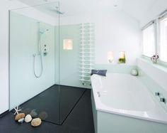 Begehbare Dusche modern