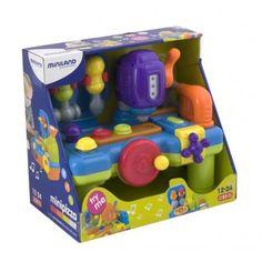 Recomendado para crianças dos 12 aos 24 meses. Brincar e Aprender. Brinquedos Didácticos para Crianças. http://www.planetadidactico.com/home/115-mini-mesa-de-ferramentas.html