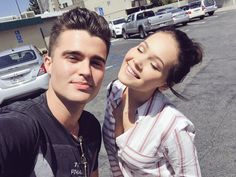 Kelli Berglund and Spencer Boldman
