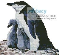 Mini Penguin Family Cross Stitch Pattern http://www.artecyshop.com/index.php?main_page=product_info&cPath=11_12&products_id=596