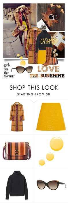 """""""Cozy Cashmere Sweaters"""" by lacas ❤ liked on Polyvore featuring Avenue, Miu Miu, Tory Burch, Topshop, Uniqlo, DKNY, See by Chloé, sunglasses, miumiu and cashmere"""
