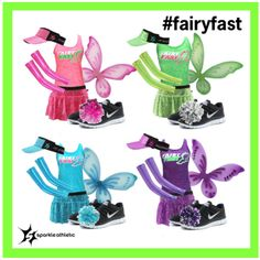 Fairy Fast Running Costumes - complete with Sparkle Athletic skirts, tanks, sleeves, wings, visors and poms! | runDisney | Running | Race Costume | Disney | Sparkle Athletic | #TeamSparkle | Halloween | Athletic Costume