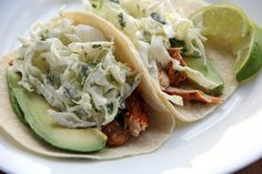 Fish Tacos with Cilantro Lime Cabbage Slaw