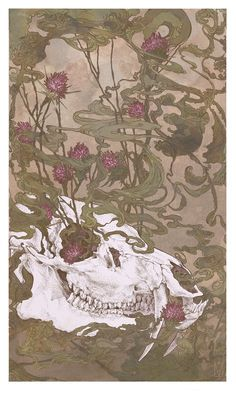 Water Deer, 2014 ink, watercolor, digital Cai Vail