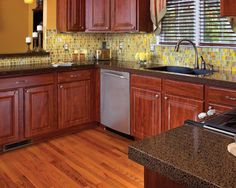 Kitchen transformations on pinterest granite cabinet refacing and