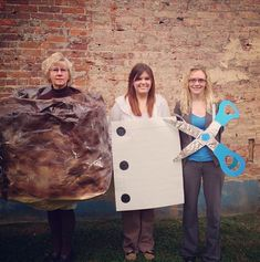 Pin for Later: 26 Group Halloween Costume Ideas That Will Win Over Your Entire Office Rock, Paper, Scissors The Office Costumes, Halloween Costumes For Work, Halloween Ideas, Halloween 2020, Halloween Stuff, Halloween Desserts, Halloween Shirt, Funny Halloween, Spooky Halloween