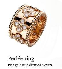 """Van Cleef & Arpels """"perlee"""" ring"""