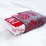 packaging for cigarettes, beading peyote stitch