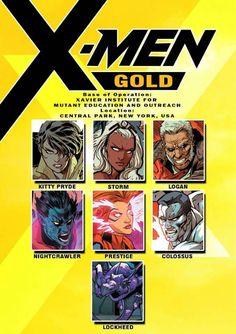 X-men gold: Members Marvel And Dc Characters, Comic Book Characters, Comic Character, Comic Books Art, Storm Marvel, Marvel Dc Comics, Marvel Comic Universe, Comics Universe, Superhero Groups