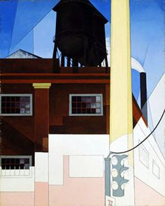 Charles Demuth >> aquarelle >> ... Et le Home of the Brave