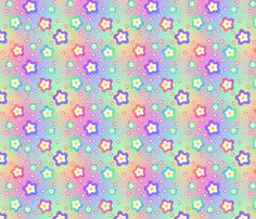 multi_flower_on_multi fabric by karwilbe on Spoonflower - custom fabric