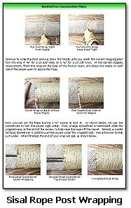 Rope wrap for cat scratching post