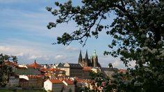 Prague Castle from Petřín Hill.