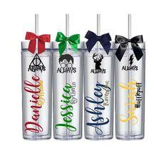 Custom Harry Potter Fan Wedding Bridesmaid Groomsmen Gift  Tumblers House Cup