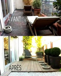 1000 images about comment am nager votre balcon on pinterest balconies tvs and small porches. Black Bedroom Furniture Sets. Home Design Ideas