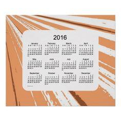 2016 Wall Calendar by Janz Orange Light Print