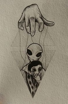 On est que des pantin - Astronomy&Alien 2020 Tattoo Design Drawings, Tattoo Sketches, Drawing Sketches, Tattoo Designs, Drawing Ideas, Drawing Drawing, Drawing Tips, Alien Tattoo, Arte Alien