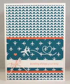 Sent with Love Card -- Calypso Coral; Pool Party; Sent with Love DSP