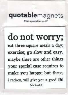 Do not worry magnet $2.50