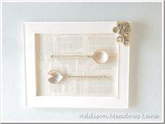diy spoon wall art, crafts, diy, wall decor