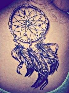 dream catcher tatto on back   Dream Catcher Tattoo With Quote Dreamcatcher-tattoos-on-back- ...