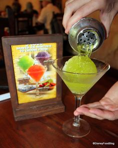 Disney's Animal Kingdom Yak and Yeti: Shaved Ice Martini  A.K.A. — the snow cone. This fun drink comes in three flavors — Grape, Cherry, and Citrus/Melon. Included vodka, midori, and pineapple juice along with sweet and sour.
