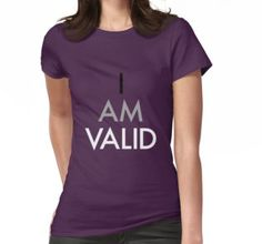 """""I Am Valid"" Ace Design"" by nerdfelt 