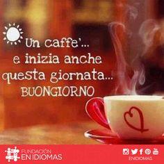 Un café y así inicia el día: BUENOS DÍAS ☕️  A coffee and so this day begins:  GOOD MORNING ☕️ #italiano #Italian #English #Inglés #Español  #Spanish #Traducción #Translation