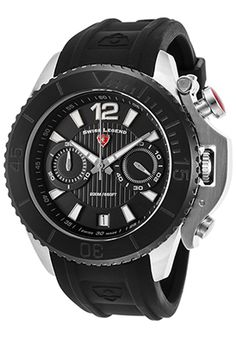 Swiss Legend Scorpion Chrono Black Silicone And Dial Black Bezel Watch Deal Today, Black Models, Scorpion, Automatic Watch, Luxury Watches, Watches For Men, Quartz, Stainless Steel, Bb