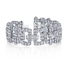Joshua J Art Deco-style diamond link bracelet