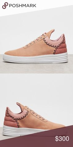 Exclusive NWT Filling Pieces Low Icy Nude Peach Sold out everywhere! Brand new in the box, never worn. Filling pieces is a European shoe company with very unique, well made shoes. Definitely will turn heads since not many people know about this brand. If you're a sneaker person you should have a pair. Make an offer! Filling Pieces Shoes Sneakers