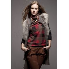 Finland Fox Fur Overcoat for Women with The Latest Style, Cashmere Texture with Long Length Fox Fur Overcoat, Sleeveless Design